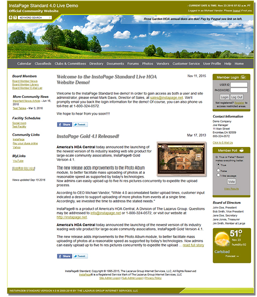 Homeowners Association Website